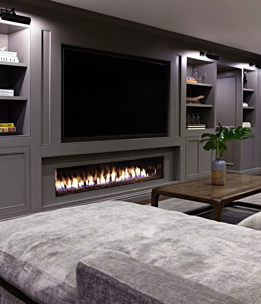 Fake Fireplace Heater with Transitional Basement Also Barn Doors Brass Built in Storage Chenille Fireplace Grasscloth Grey Leather Library Neon Oak Paneling Plasma Sectional Shelving Silk Sliding Barn Doors Steel Doors Wall Panelling Wallpaper