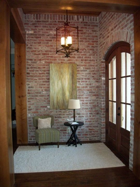 Furniture Stores in St Louis   Traditional Entry Also Acadian Style Brick Wall Entry Foyer