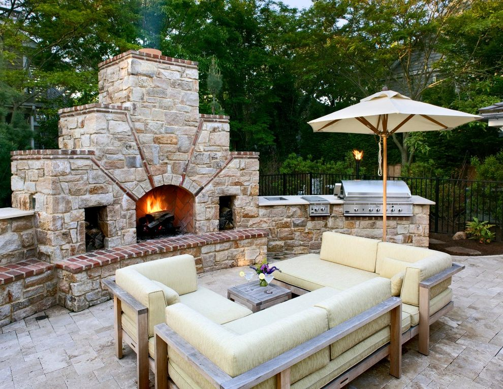 Gas Grill Inserts with Contemporary Patio Also Brick Grill Outdoor Fireplace Outdoor Sofa Patio Paver Sectional Sofa Stone Umbrella Yellow