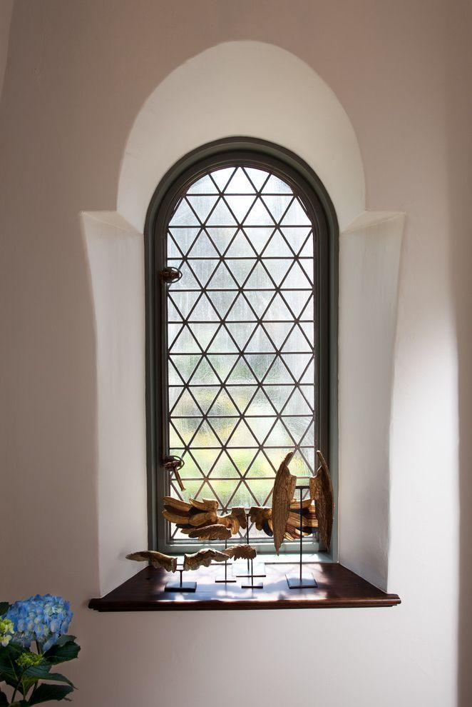 Grace Church Dumfries   Mediterranean Hall Also Arch Window Art Built in Hydrangea Sculpture Spanish Statue Stucco Wall Window Seat