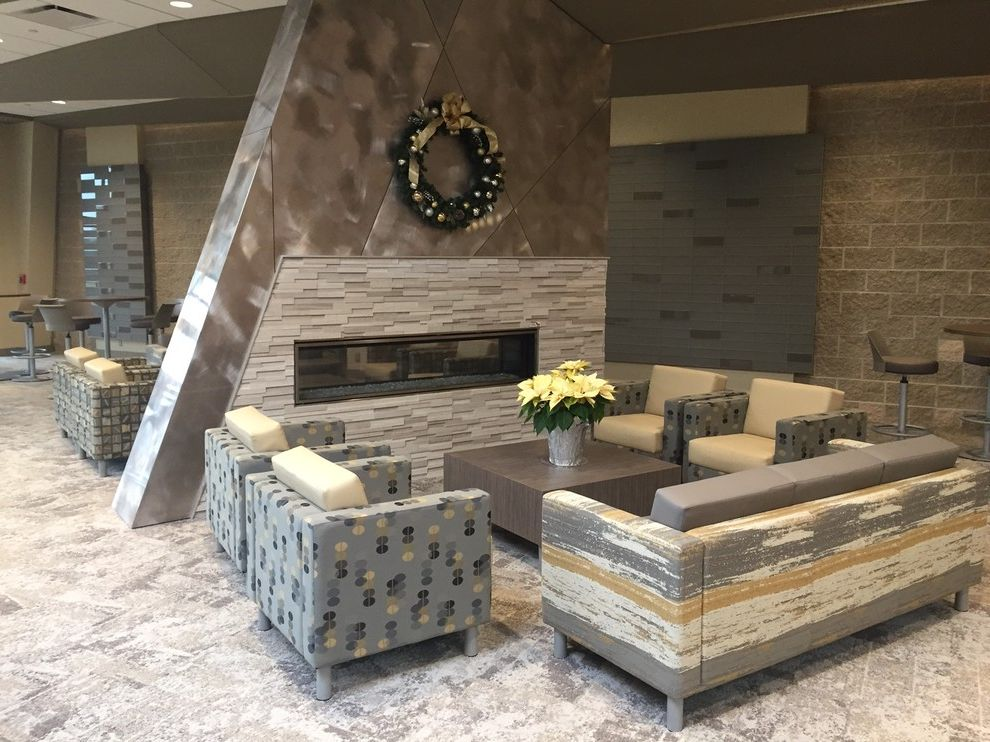 Grace Church Dumfries   Transitional Spaces  and Caesarstone Church Fireplace Lagos Blue Lagosblue Ledgerstone Modern Hall Quartz Transitional Design Transitional Style