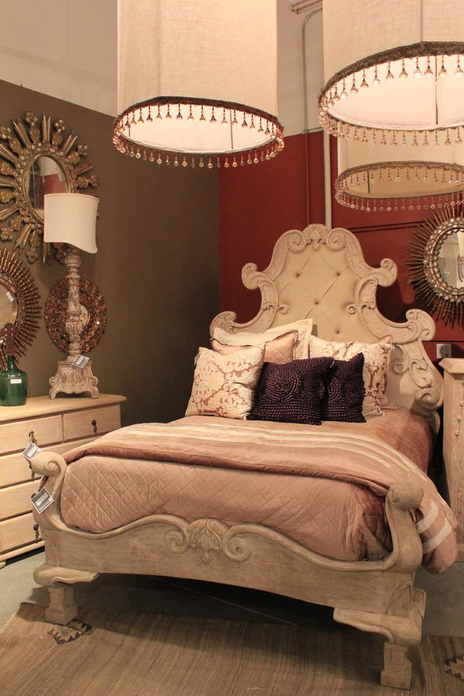 Habitat for Humanity High Point Nc with Mediterranean Bedroom  and Bed Pillows Chandelier Decorative Pillows Earth Tone Colors Ornate Throw Pillows Tufted Headboard Upholstered Headboard