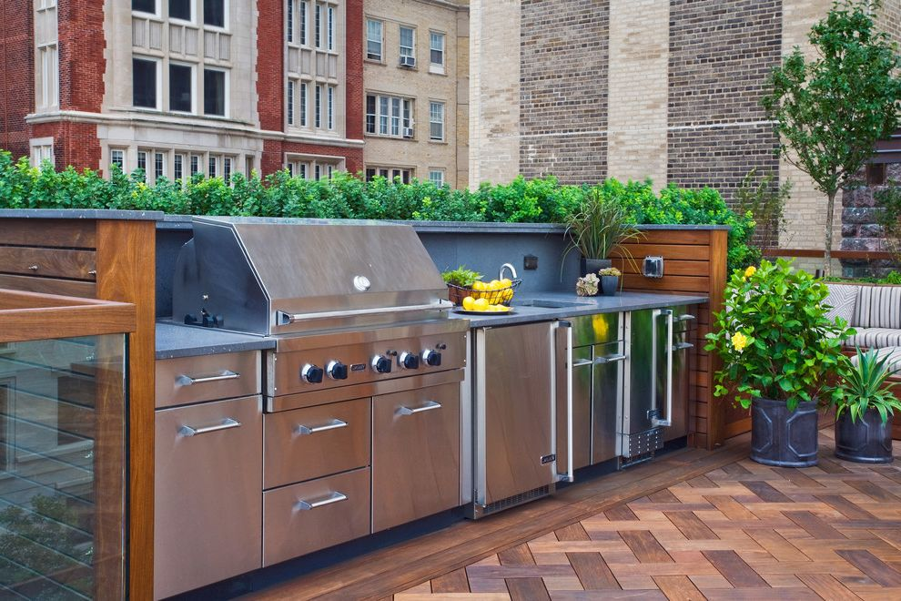 Haverhill Ma Building Department   Traditional Deck  and Barbecue Chicago City Deck Grill Grill Station Outdoor Kitchen Rooftop Furniture Rooftop Kitchen Rooftop Plants Rooptop