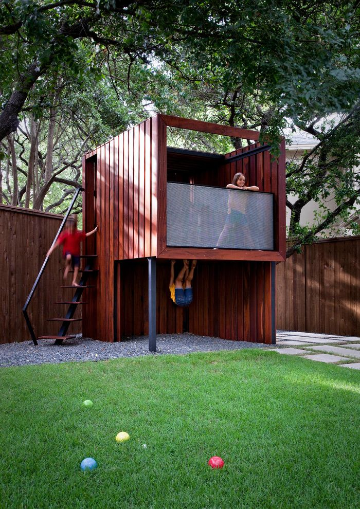 House Cleaning Fort Collins with Contemporary Landscape Also Fun Grass Kids Lawn Outdoor Playsets Play Playhouse Steel and Wood Steps Steel Frame Tigerwood Turf
