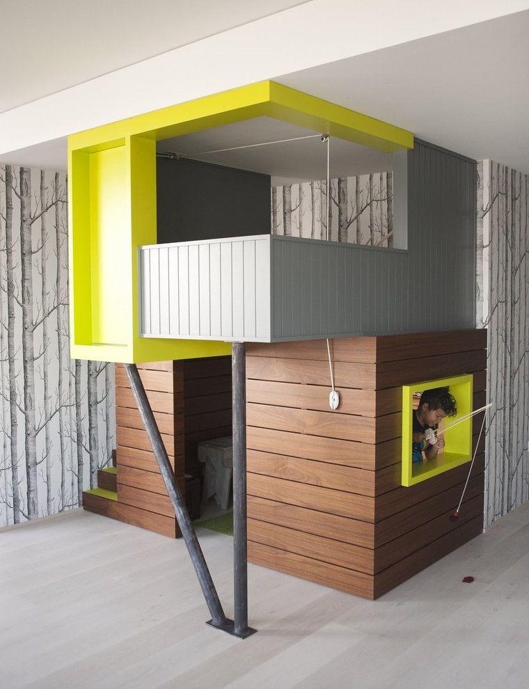 House Cleaning Fort Collins with Eclectic Kids  and Birch Cantilever Lime Green Playhouse Playroom Trees Wallpaper