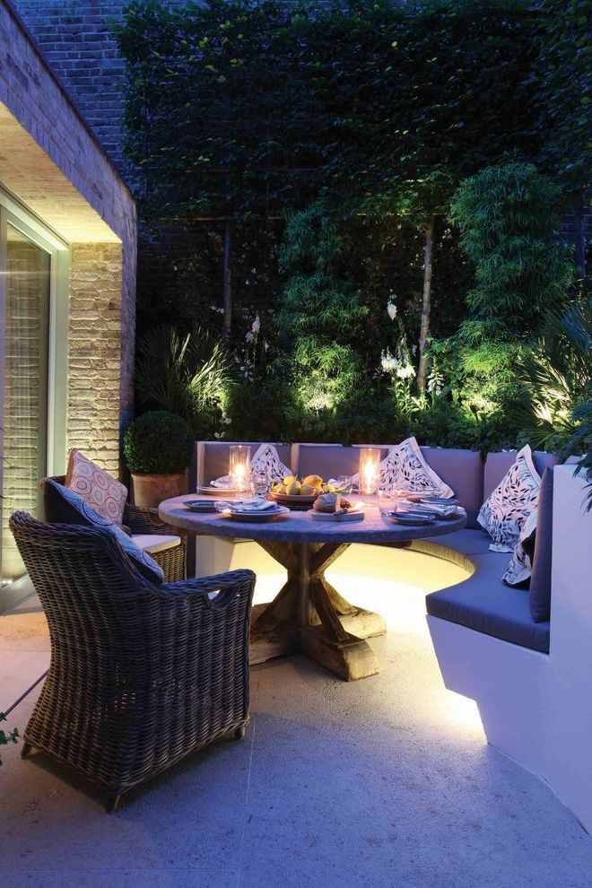 Led Dusk to Dawn Outdoor Lights   Contemporary Patio  and Contemporary