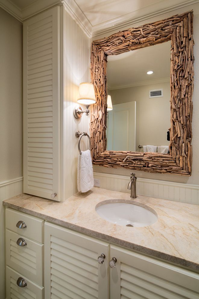 Liberty Towers Tulsa with Beach Style Bathroom  and Bin Pulls Cup Pulls Framed Mirror Sconce Towel Ring