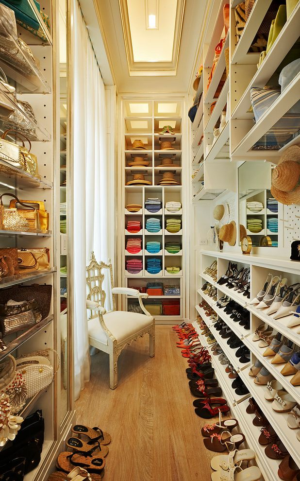 Lucite Containers with Traditional Closet Also Adjustable Shelves Armchair Clos Ette Closet Color Coded Closet Dressing Mirror Open Shelving Peg Wall Shoe Storage Tray Ceiling Walk in Closet White Closet Window Wood Floor