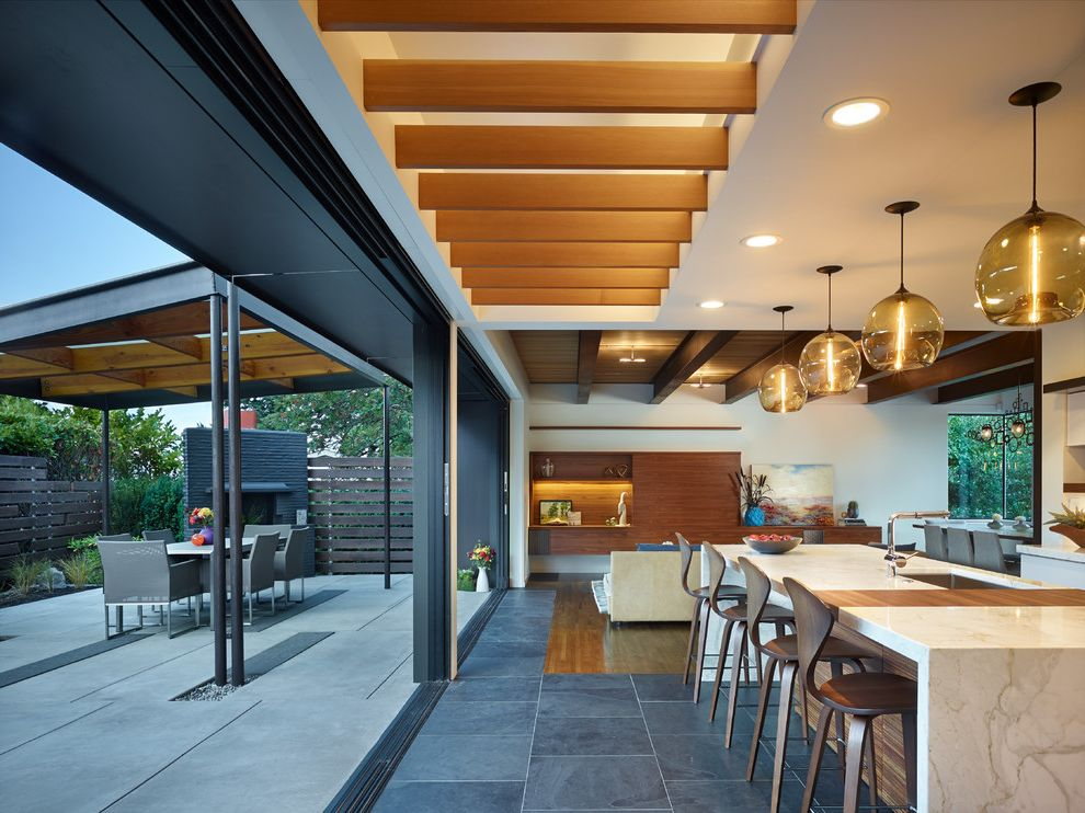 Mercer Contractor Resources   Midcentury Kitchen  and Bellevue Contractor Bellevue Remodeler Designers in Seattle Indoor Outdoor Living Mercer Island Contractor Modern Kitchen Seattle Contractor Seattle Kitchen Remodeler W S Feldt General Contractor