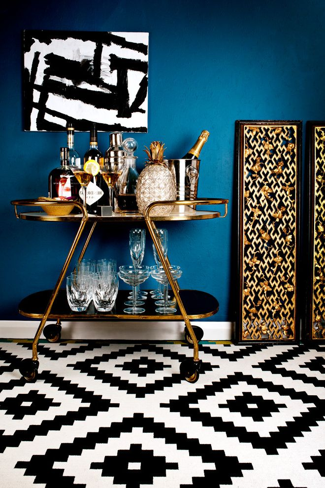 Monogrammed Whiskey Decanter   Contemporary Home Bar  and Bar Carts Bar Trolley Black White Canvas Chinese Cocktail Cocktail Trolley Drinks Trolley Geometric Gold Lustre Pinapple Screens Wine Glasses