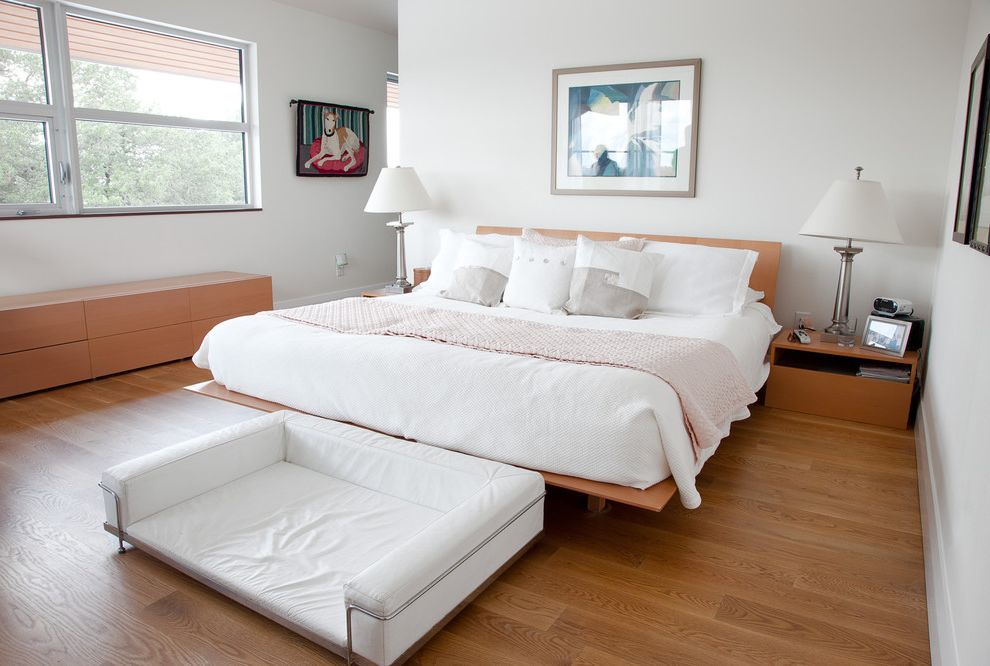 Nice Sofa Beds   Modern Bedroom Also Bedroom Contemporary Hardwood Floors Large Window Long Cabinet Modern Platform Bed Silver Table Lamps White Duvet White Throw Pillows Wood Cabinet Wood Nightstand