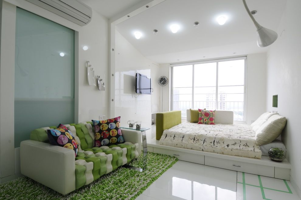 Nice Sofa Beds with Contemporary Kids  and Ac Big Window Boys Room Contemporary Sofa Green and White Green Rug Platform Bed Shag Rug Side Table Sofa Throw Pillos Under Bed Storage Wall Mount Tv White Walls