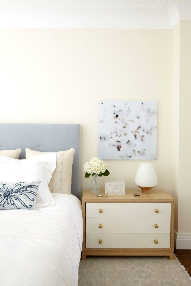 Nightstand with Marble Top with Transitional Bedroom  and Custom Headboard Custom Nightstands Light Blue Headboard Master Bedroom