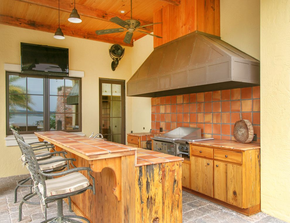 Olivera Construction   Rustic Patio Also Outdoor Kitchen