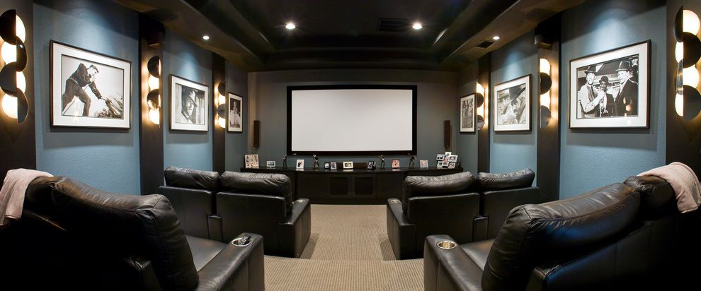 Olivera Construction with Traditional Home Theater  and Contemporary Home Theatre Media Room