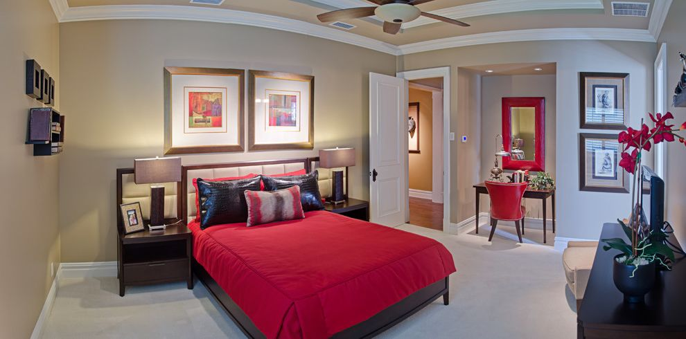 Olivera Construction with Transitional Bedroom  and Transitional