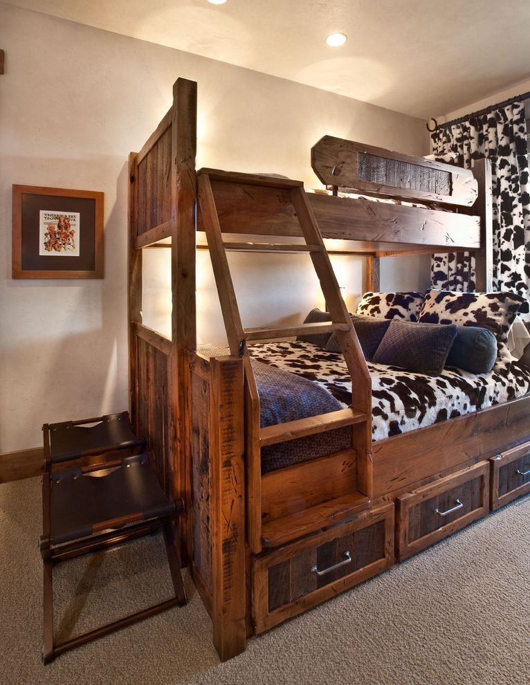 Park City Showcase of Homes with Rustic Bedroom  and Bunkbeds Cameo Homes Inc Kids Bedroom Kids Room Park City Showcase of Homes in Utah Park City Utah Tuhaye Park City Utah Luxury Home Builders Remodelers