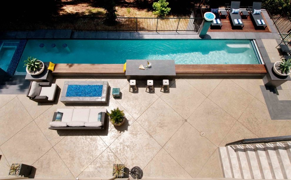 Platinum Pools Az with Contemporary Pool Also Aerial View Counter Stools Fire Bowl Firepit Lap Pool Outdoor Living Pavers Pool Chairs Pool Deck Potted Plants Railing Stairs