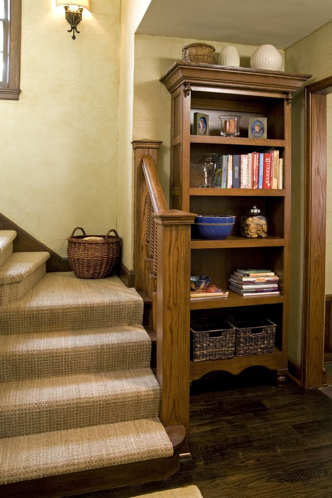 Replacing Carpet on Stairs   Traditional Staircase  and Baseboards Bookcase Dark Floor Faux Finish Staircase Carpet Staircase Runner Wood Flooring Wooden Staircase