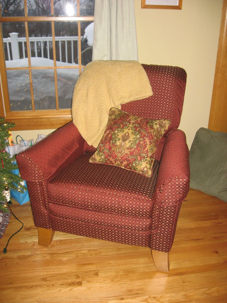 Reupholster Recliner    Family Room Also Custom Reupholstered Custom Throw Pillows Decorative Pillows Reupholstered Chair Side Chairs Upholstered Chair Upholstered Side Chair
