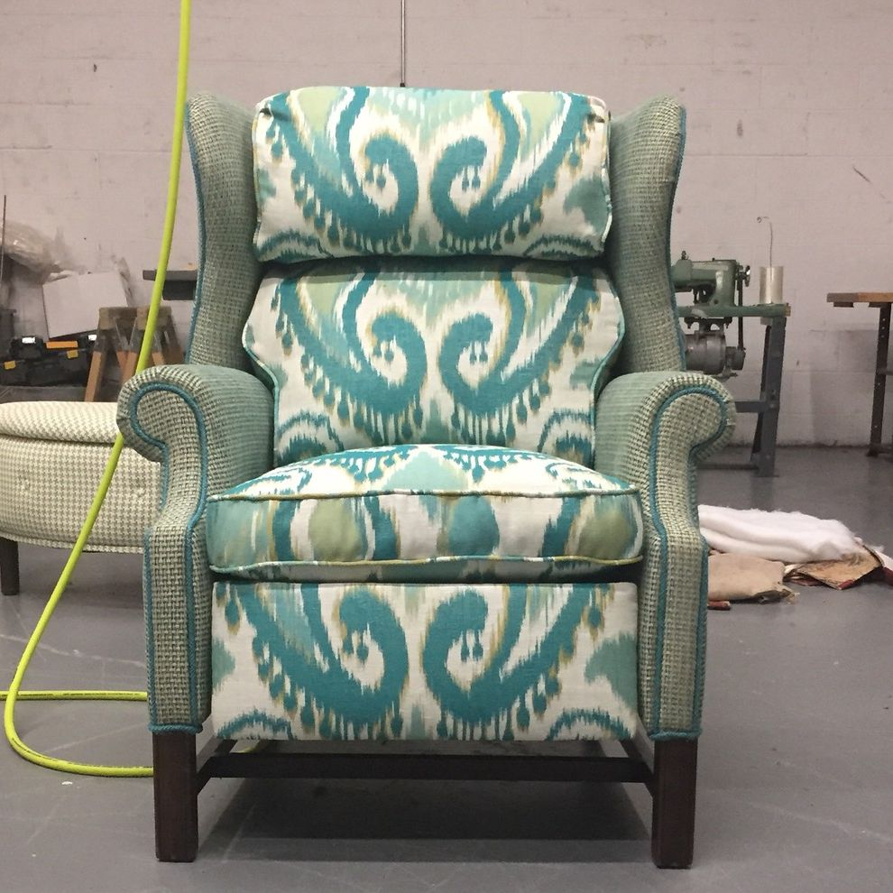 Reupholster Recliner with Modern Spaces Also Comfortable Recliner Reupholstered