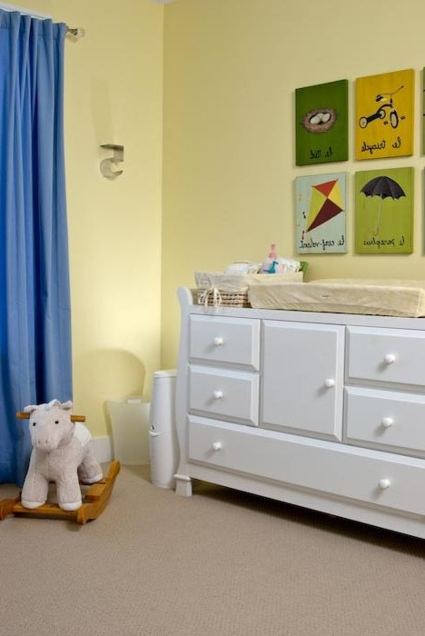 Rudd Furniture   Craftsman Kids Also Blue Curtains Boys Room Nursery Plaques White Dresser Yellow Yellow Walls