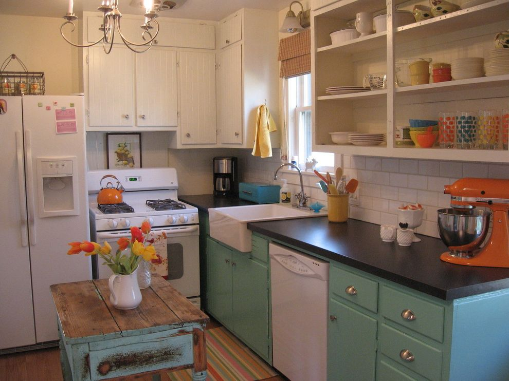 Rustoleum Peel Coat Review   Eclectic Spaces Also Aqua Beadboard Colorful Farmhouse Sink Funky Island Kitchenaid Mixer Open Shelving Orange Reclaimed Retro Vintage White Appliances