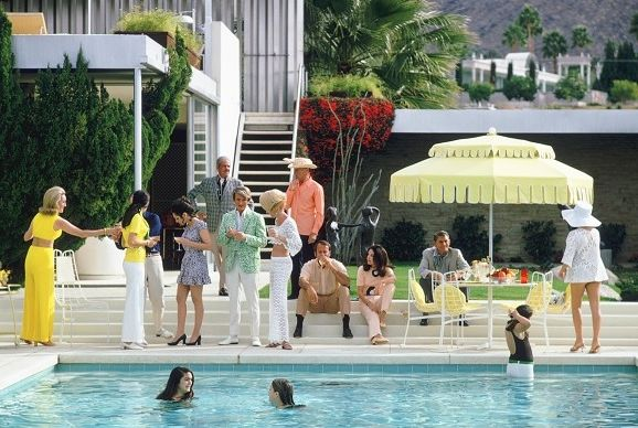 Slim Aarons Prints    Spaces  and 1950s 1960s 1970s Contemporary Artwork Custom Framing Poolhouse Slim Aarons Yellow
