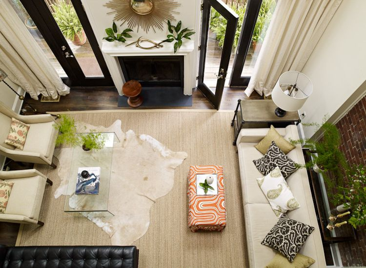 Soft Natural Fiber Rugs with Eclectic Living Room  and Natural Modern Warm Modern