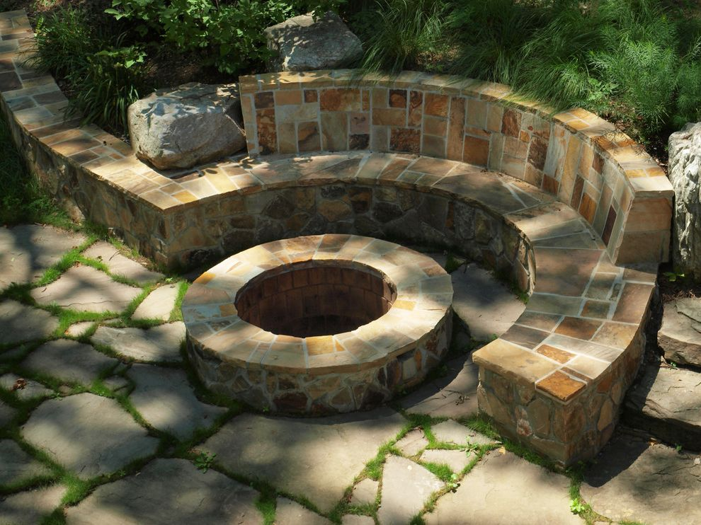 Stone Benches for Sale with Contemporary Landscape  and Boulders Built in Bench Curved Bench Fire Pit Fire Pit Seating Natural Landscape Seating Stone Stone Bench Stone Fire Pit Stone Pathway Stone Patio Stone Pavers Stone Walkway