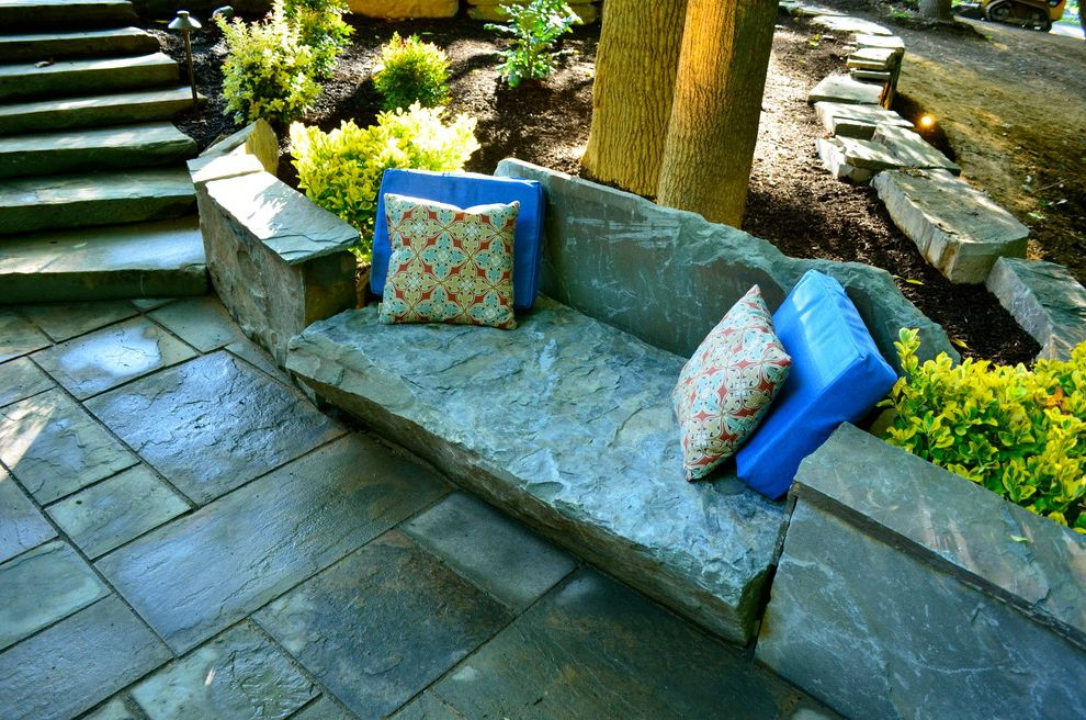 Stone Benches for Sale with Traditional Landscape Also Bluestone Chunk Stone Euonymus Landscaping Led Unique Lighting Outdoor Pillows Stone Bench