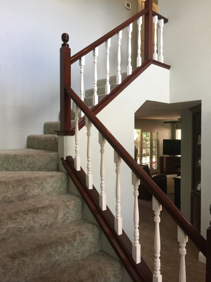 Trico Painting   Traditional Spaces  and Oak Stair Railing