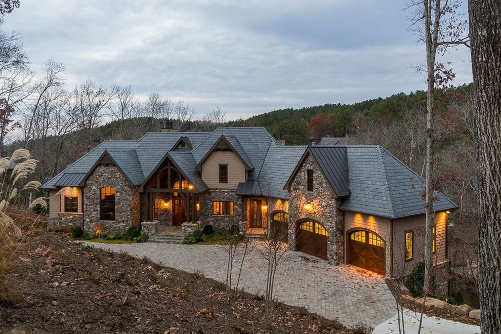 Valspar Reserve Reviews   Craftsman Exterior  and Bar Beams Builder Bunk Beds Custom Deck Exercise Room Fireplace Hardwood Flooring Homes House Keowee Lake Landscape Outdoor Lighting Patio Screen Porch Stone the Reserve