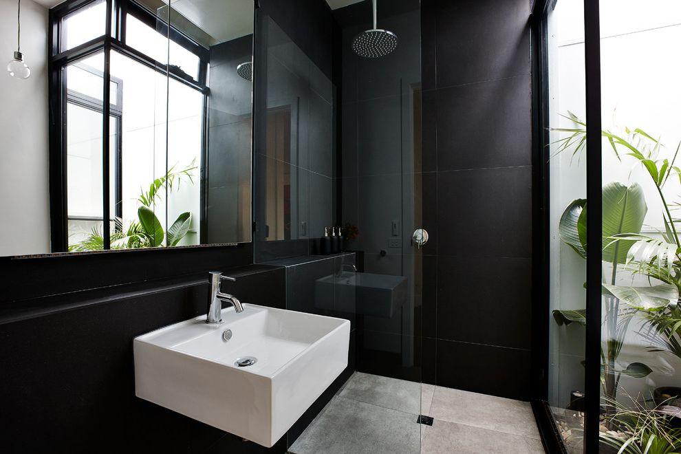 Valspar Reserve Reviews with Contemporary Bathroom Also Black Bathroom Glass Panel Glass Wall Rain Showerhead Wall Mirror Window Wall