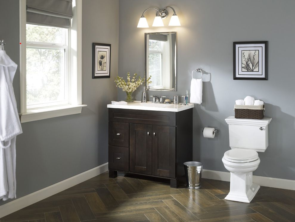 Valspar Reserve Reviews with Traditional Bathroom  and Traditional