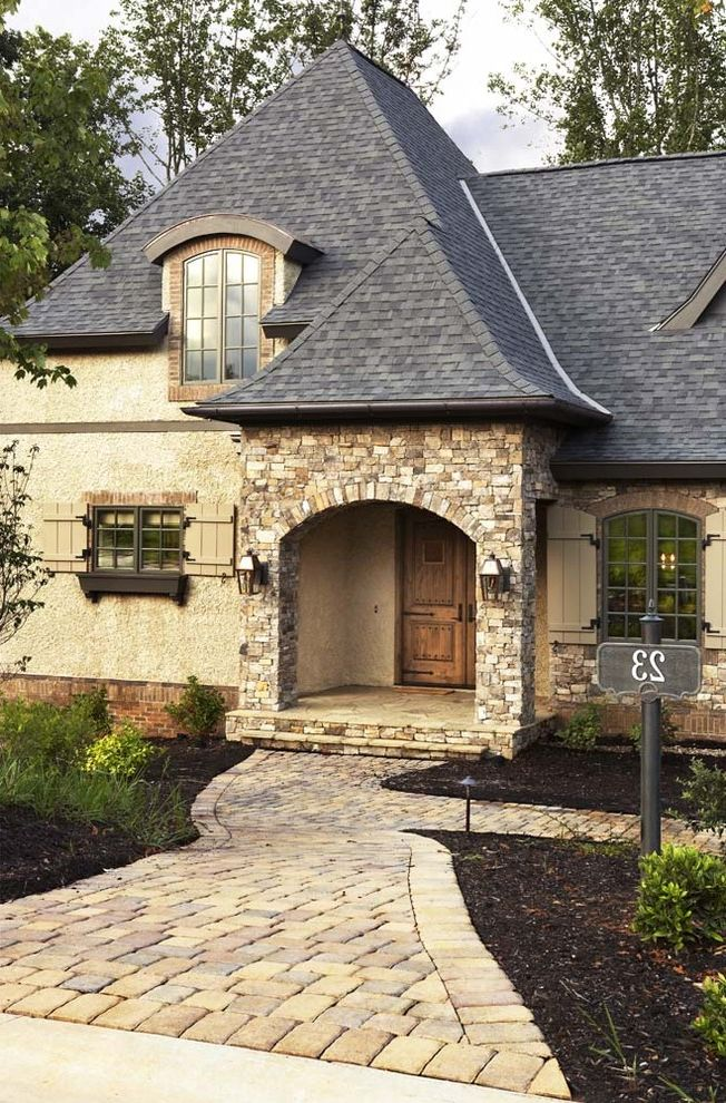 What Are Architectural Shingles with Contemporary Entry  and Contemporary Exterior Landscape Pavor Rustic Shingle Shutter Stone Window