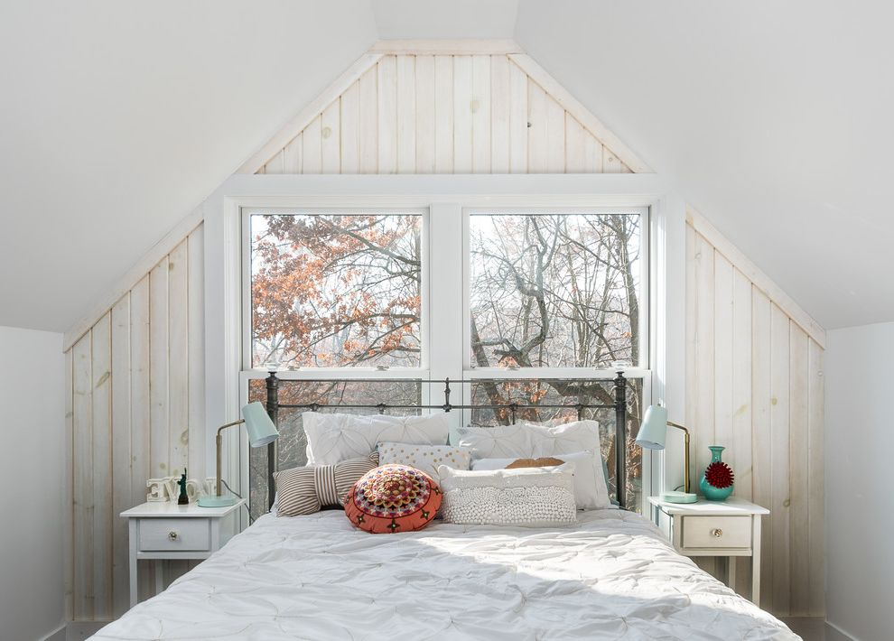 What is Kilz Used for with Farmhouse Bedroom  and Airy Bright White Bedding White Nightstand White Washed Wood