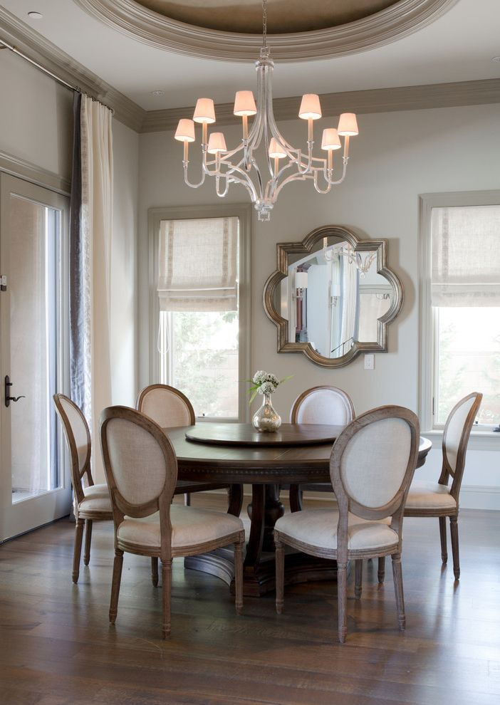 Z Gallerie Near Me with Transitional Dining Room Also Breakfast Room California Residence Casual Elegance Chandelier Dining Chairs Round Dining Table Simply Sophisticated Updated Traditional Wall Mirror
