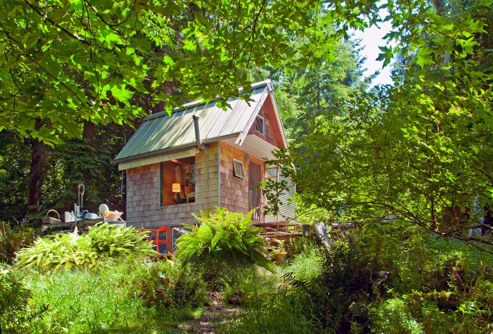 Cabins San Juan Islands   Rustic Exterior  and Cabin Cedar Siding Natural Landscape Rustic Landscape Secluded Tiny Home Tiny House Vacation Home