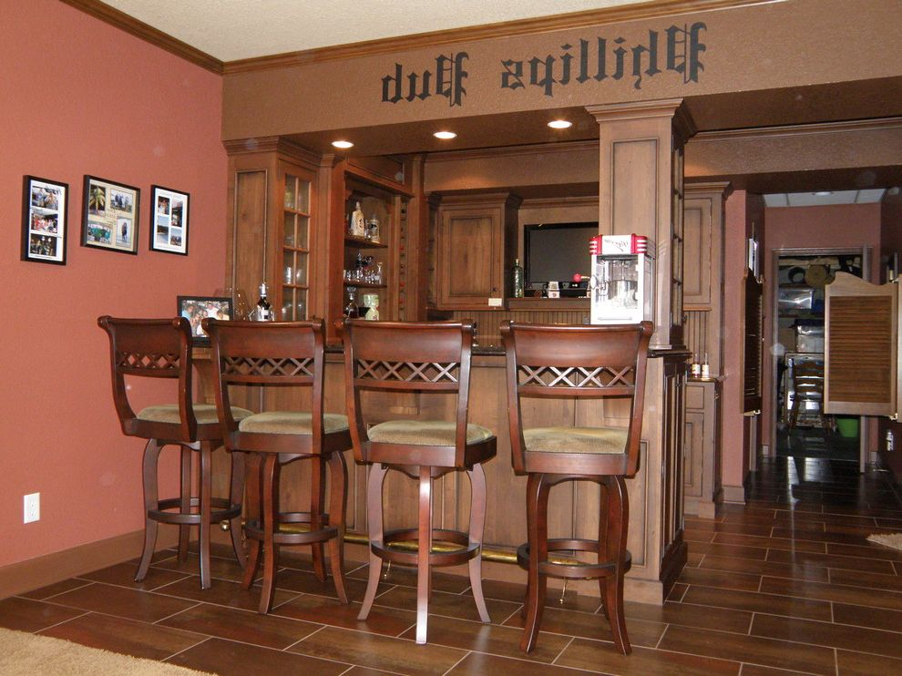 Dining Room Drapes Ideas with Rustic Home Bar  and Rustic