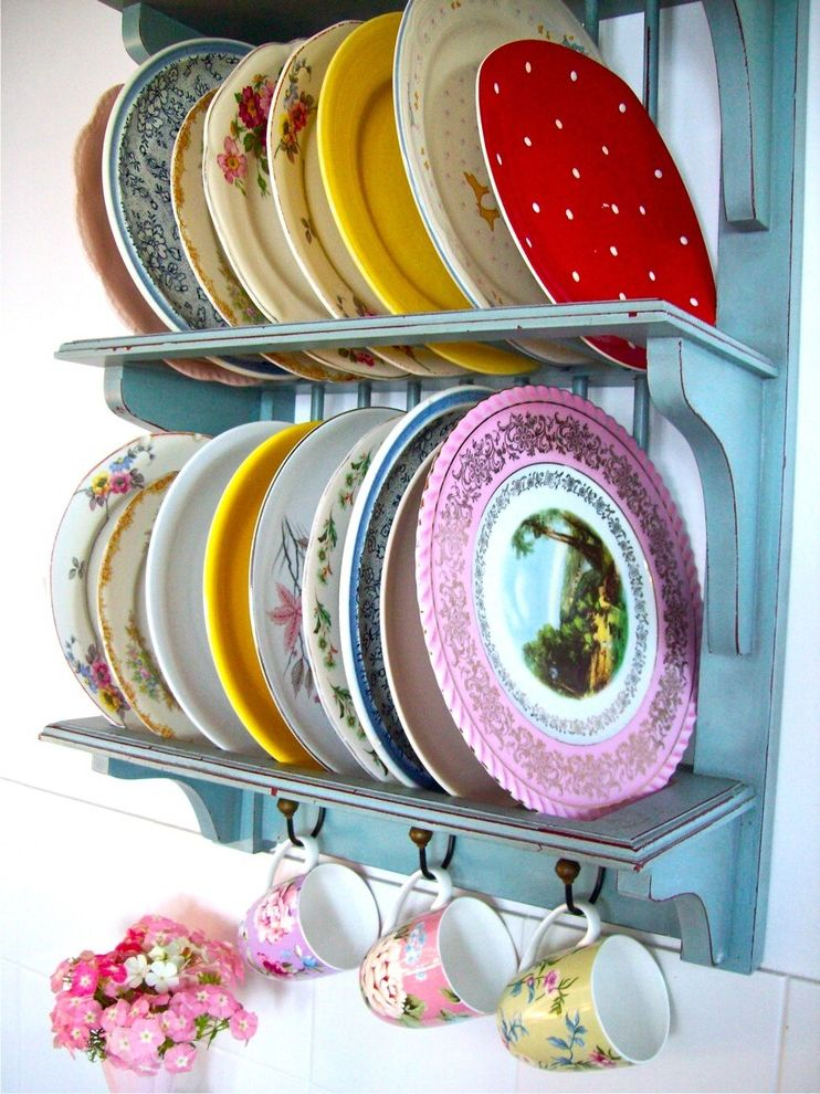 Dinner Plate Chargers   Shabby Chic Style Kitchen Also Shabby Chic Style