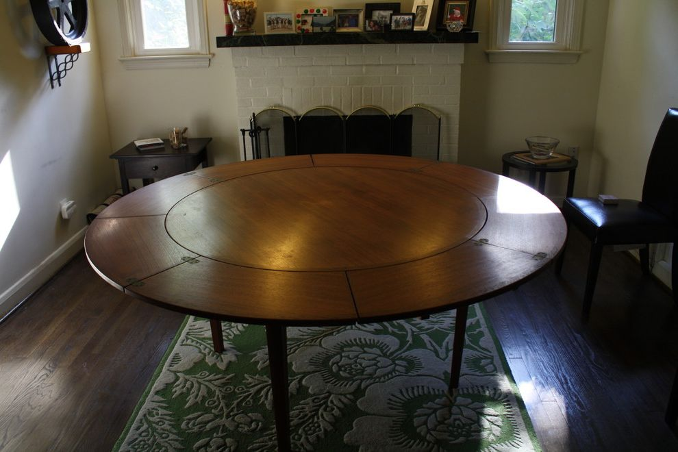 Expanding Circle Table   Eclectic Dining Room Also Eclectic