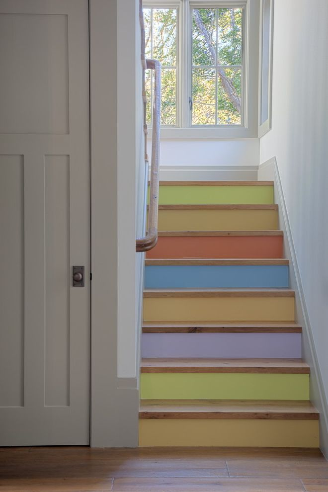 How to Move Heavy Furniture Up Stairs with Eclectic Staircase  and Accent Stairs Color Colored Stairs Happy Stairs Painted Stairs