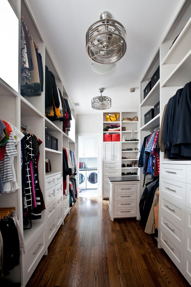Laundry Closet Dimensions with Transitional Closet Also Built in Dresser Closet Drawers Closet Dresser Closet Fans Closet Organization Shoe Shelves Small Ceiling Fans Transitional Transitional Home Tubular Bar Pulls