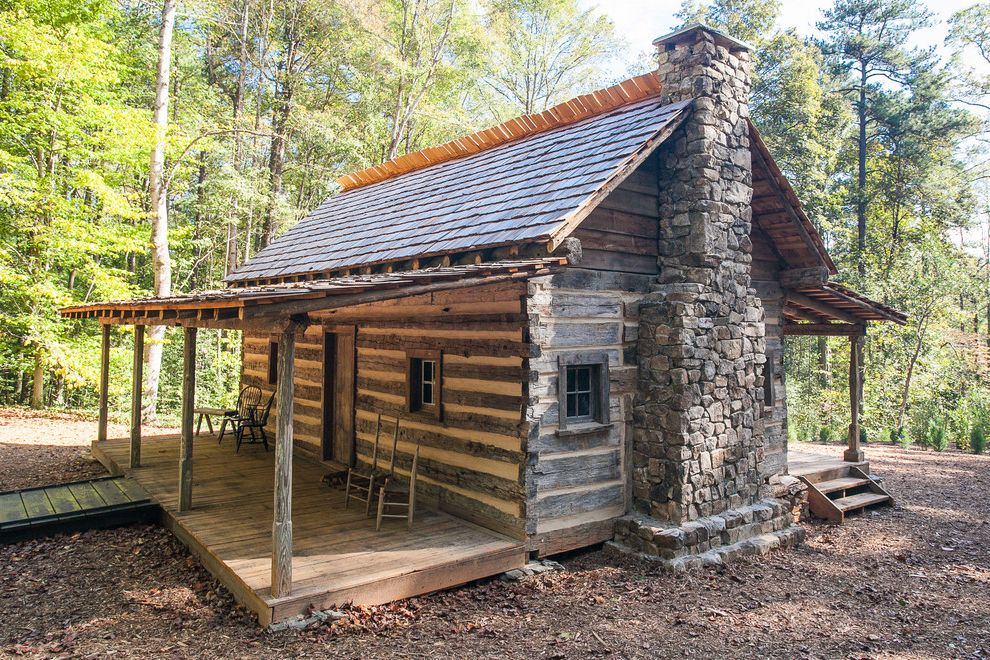 Log Cabin Builders in Texas with Rustic Exterior Also Atlanta Chimney Deck Historic Log Cabin Historic Log Home Historic Preservation Log Home Porch Reconstruction