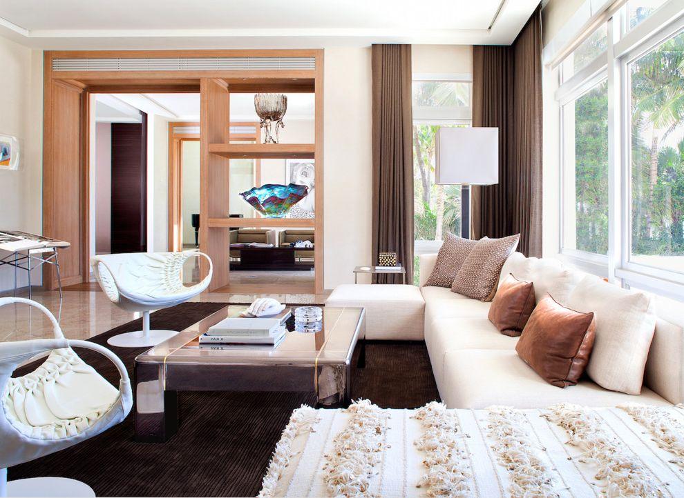 Minotti Usa with Contemporary Living Room Also Area Rug Built in Shelves Casual Elegance Custom Karl Springer Minotti Neutral Schotten Hansen Usa Sectionals