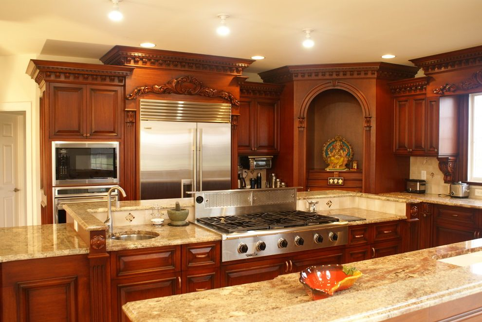 Mr Rooter Nj with Traditional Kitchen Also Ceiling Lighting Kitchen Island Recessed Lighting Stainless Steel Appliances Wood Cabinets Woodwork