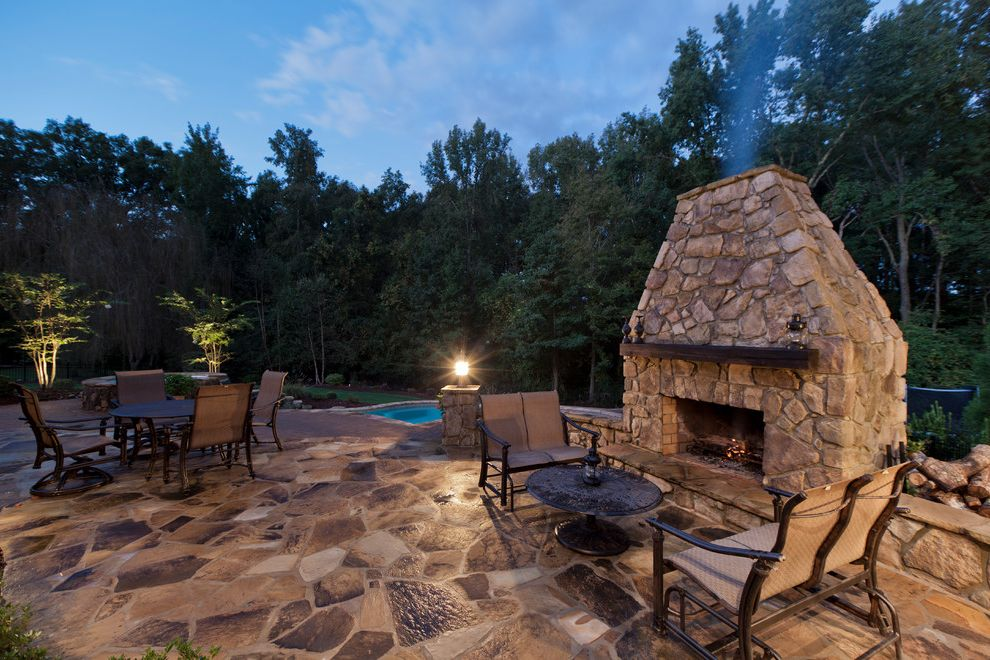 Painting with a Twist Charlotte Nc   Contemporary Patio Also Backyard Chimney Fireplace Flagstone Forest Mantel Metal Outdoor Furniture Outdoor Dining Outdoor Entertaining Pool Round Coffee Table Stonework Trees