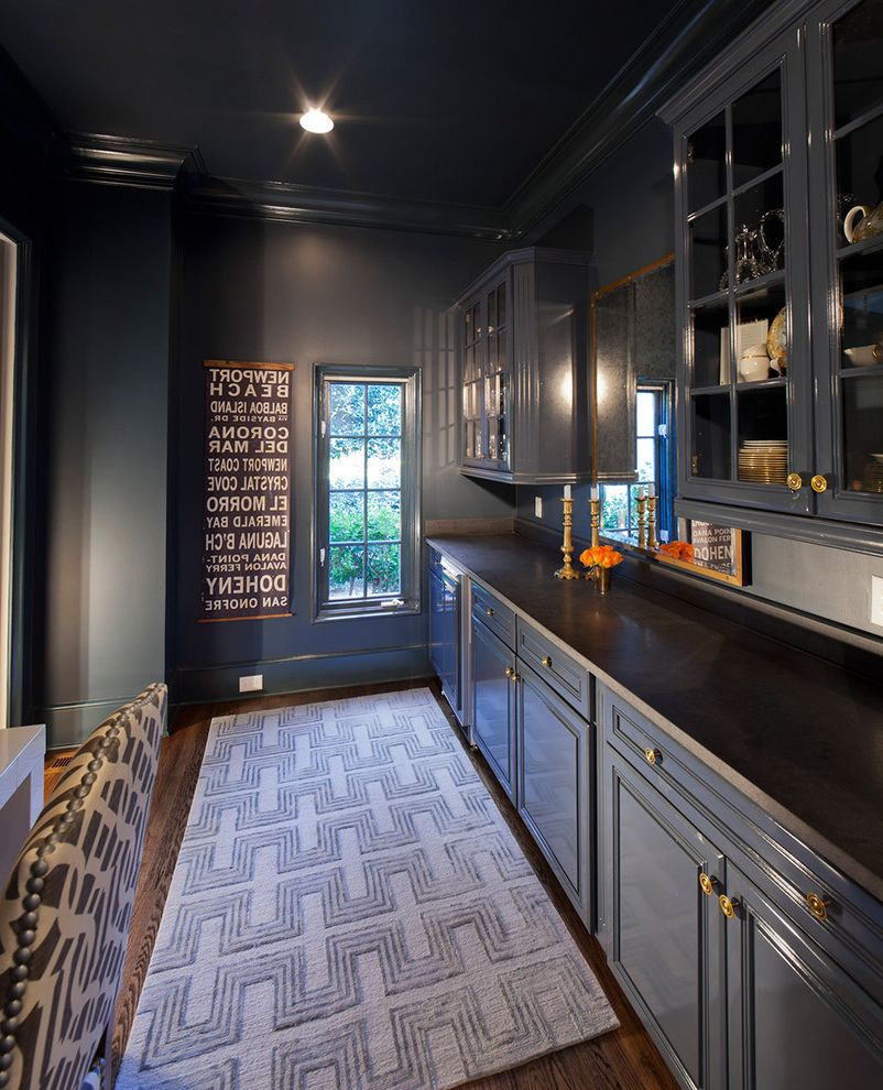 Painting with a Twist Charlotte Nc with Traditional Kitchen  and Area Rug Dark Cabinets Dark Colors Dark Walls Dark Wood Drawer Pulls Kitchen Cabinets Kitchen Countertops