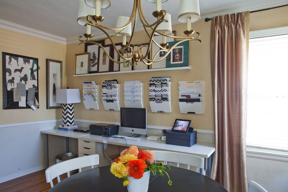 Rolling File Cabinet Ikea   Traditional Home Office Also Black and White Chair Rail Chandelier Crown Molding Dahlias Floral Office Space Online Interior Design Wall Shelves Workspace Yellow Walls